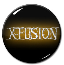 "X-fusion - Yellow Logo 1"" Pin"