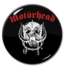 "Motorhead - WhiteLogo  1.5"" Pin"