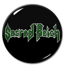 "Sacred Reich - Green Logo 1.5"" Pin"