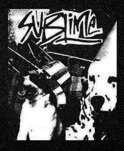 "Sublime - Black White Dogs 4x5"" Printed Patch"