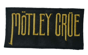 "Motley Crue - Gold Logo 2x4"" Emroidered Patch"