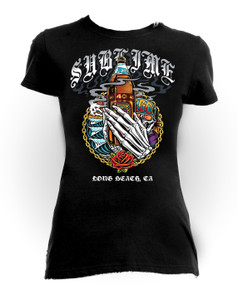 Sublime -  Long Beach Ca Girls T-Shirt