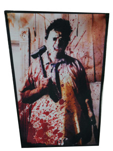"Texas Chainsaw Massacre - LeatherFace 13.5X10.5"" Color Backpatch"