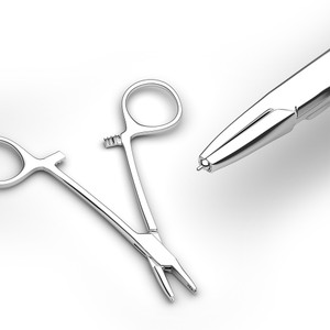 Surgical Microdermal Forceps for piercings