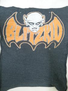 Blitzkid - Orange Logo Backpatch Test print