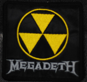 """Megadeth - Radioctive 3x3"""" Embroidered Patch"""
