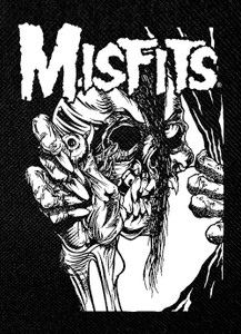 "Misfits - Pushead Skull 3x5"" Printed Patch"