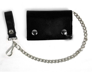 Black Vegan Wallet with Chain