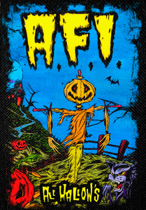 """A.F.I. - All Hallows 12x14"""" Backpatch"""