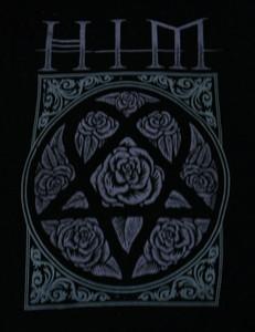 HIM  - Heart Pentagram LOGO - Test BackPatch