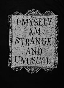 I Myself Am Strange and Unusual - Test BackPatch
