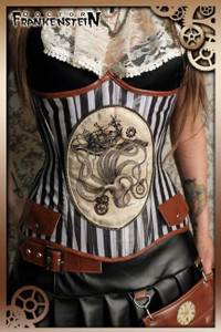 Kraken Underbust Lace-Up Corset