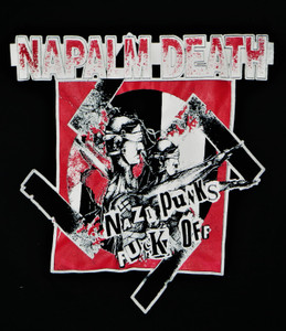 Napalm Death - Nazi Punks Fuck Off - Test BackPatch