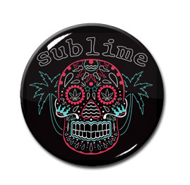 "Sublime - Sugar Skull 1"" Pin"