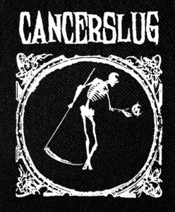 "Cancerslug - Skeleton 4x5"" Printed Patch"