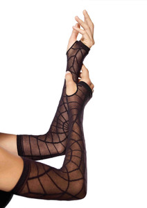Sheer Black Spider Web Arm Warmer