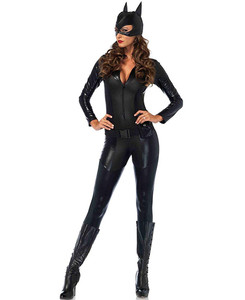 Cat Woman Faux Leather Halloween Costume