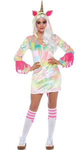 Pastel Unicorn Dress Night Gown Costume