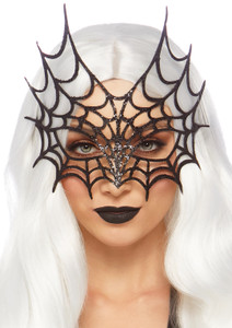 Glitter Spider Woman Web Eye Mask