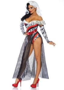 Cruella de Vil Dalmatian Dame Costume