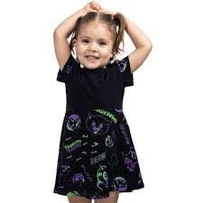 Halloween Stamped Toddler Dress
