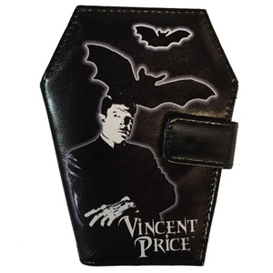 Vincent Price Coffin Shaped Luggage Wallet