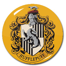 "Harry Potter - Hufflepuff House Crest 1.5"" Pin"
