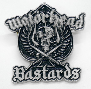 "Motorhead - Bastards 2"" Metal Badge Pin"