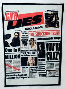 """Guns N' Roses - Lies 13.5"""" x 10.5"""" Color Backpatch"""