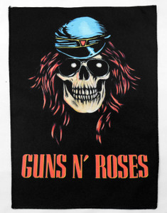 "Guns N' Roses - Axl Rose Skull Face 13.5"" x 10.5"" Color Backpatch"