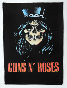 """Guns N' Roses - Slash Skull Face 13.5"""" x 10.5"""" Color Backpatch"""