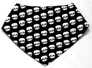 Skull Collage Face Mask Type Bib