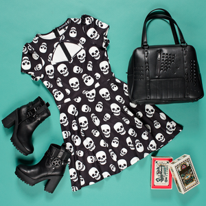 Skull Collage Scuba Dress