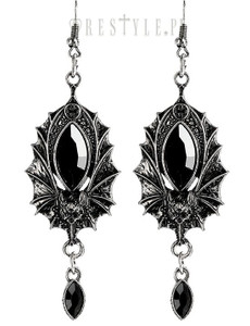 Silver Victorian Antique Bat Earrings