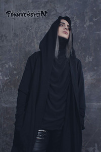 Warlock Mens Black Coat