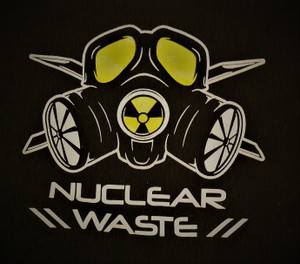 Nuclear Waste - Gas Mask Logo - Test BackPatch