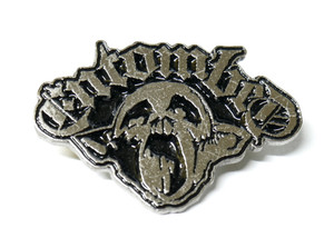 Enombed - Skull 3D Logo - Metal Badge Pin