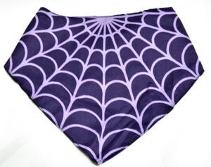 Purple Spiderweb Face Mask Type Bib