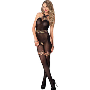 Sheer Bodystocking with Multi Strand Twist