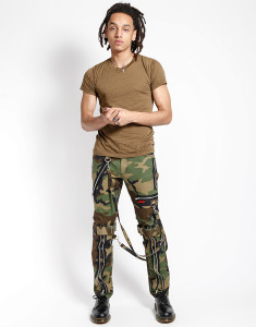 Men's Camouflaged Bondage Pants