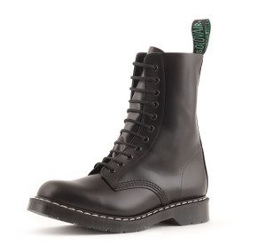 Solovair 11 Eye Derby Boot in Black *Made in England*
