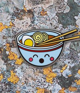 Ramen Bowl Face Enamel Pin