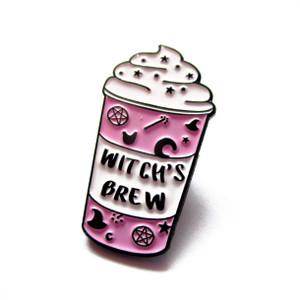 Witch's Brew Lilac Coffee Enamel Pin