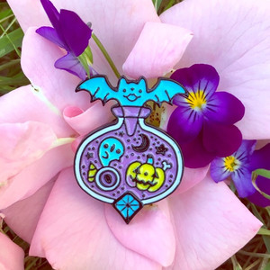 Cute Kawaii Halloween Witches Potion Enamel Pin