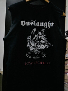 Onslaught - Power From Hell - Sleeveless Misprinted T-Shirt