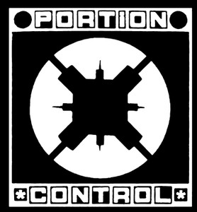 "Portion Control Logo 4x4"" Printed Sticker"