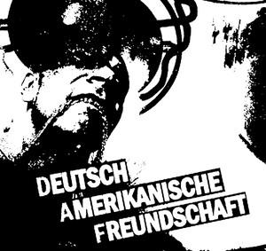 """Deutsch Amerikanische Freundschaft Logo 4x4"""" Printed Sticker"""