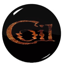 """Coil - Orange Logo 1.5"""" Pin"""