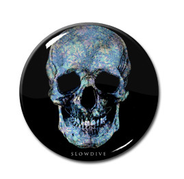 "Slowdive - Blue Skull 1.5"" Pin"