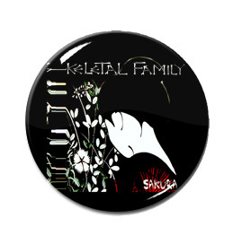"Skeletal Family - Sakura 1.5"" Pin"